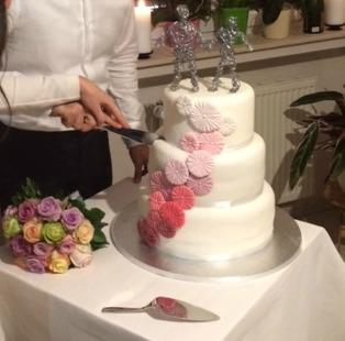 An Ombre Wedding Cake